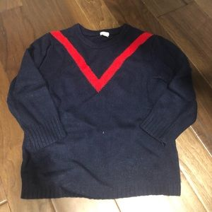 Woman's jcrew navy crew neck sweater size M - euc